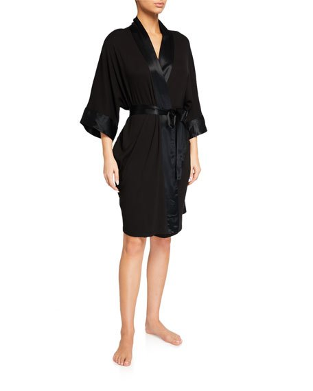 Shala Satin-Trim Robe