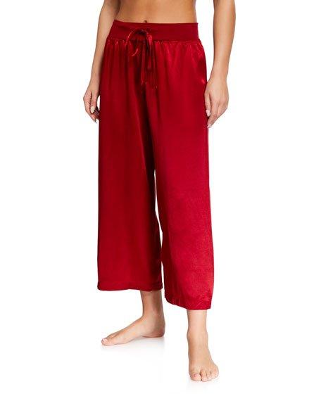 Jolie Satin Crop Lounge Pants