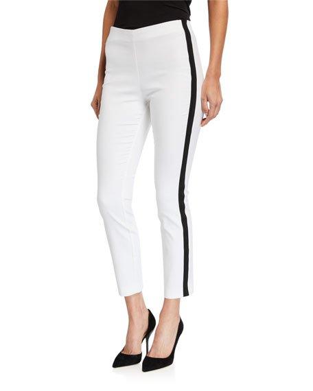 Simone Side-Stripe Ankle Pants