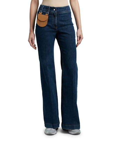 Mini Pocket Denim Pants