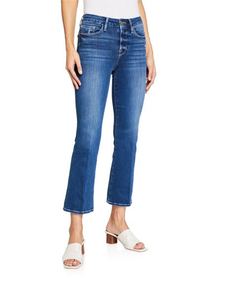 Le Crop Mini Boot-Cut Jeans