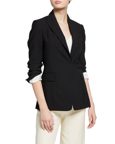 Wool Monili-Trim Slim Blazer