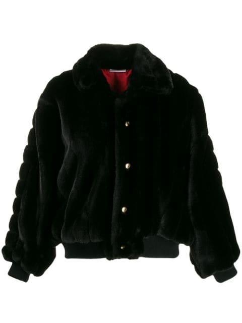 Gcds Oversized Faux Fur Jacket - Farfetch