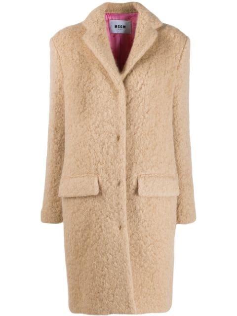 MSGM Oversized Teddy Coat - Farfetch