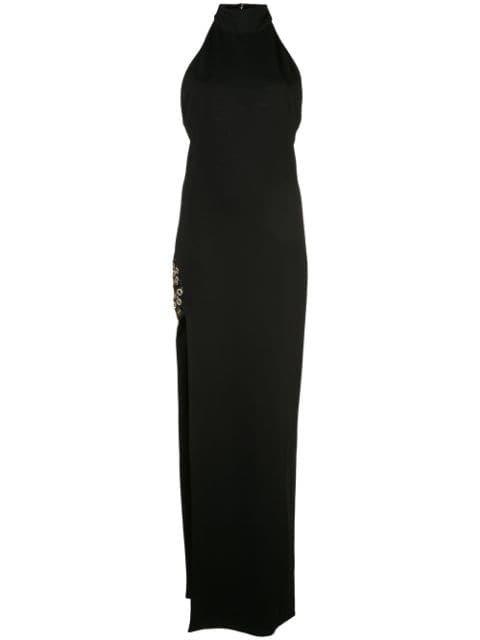 Haney Helena Halterneck Dress - Farfetch