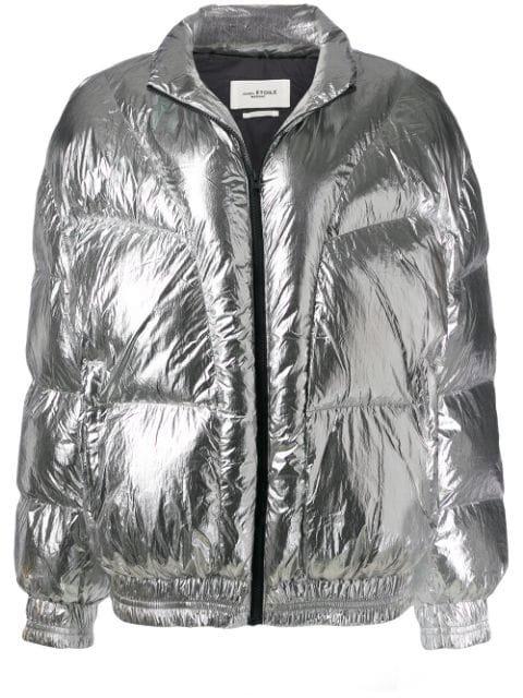 Isabel Marant Étoile Metallic Puffer Jacket - Farfetch