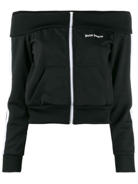 Palm Angels off-the-shoulder Track Jacket - Farfetch