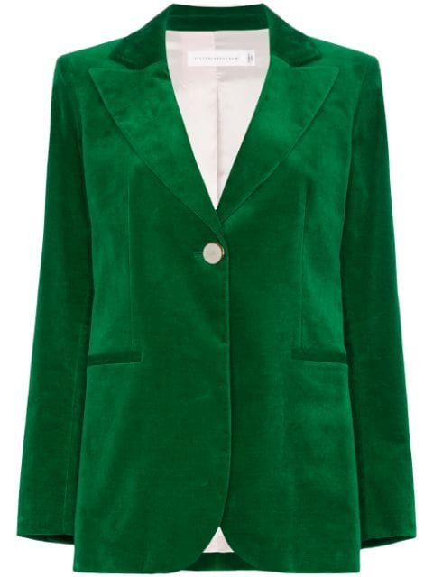 Victoria Beckham single-breasted Velvet Blazer - Farfetch