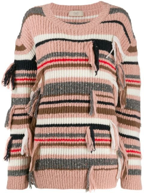 Maison Flaneur Fringed Striped Jumper - Farfetch