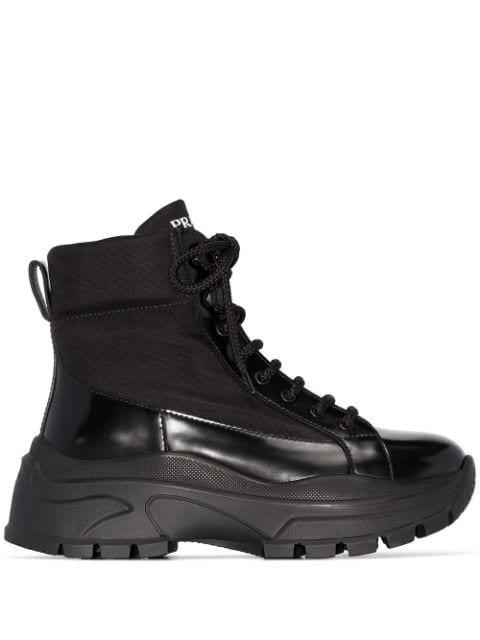 Prada Platform Combat Boots - Farfetch