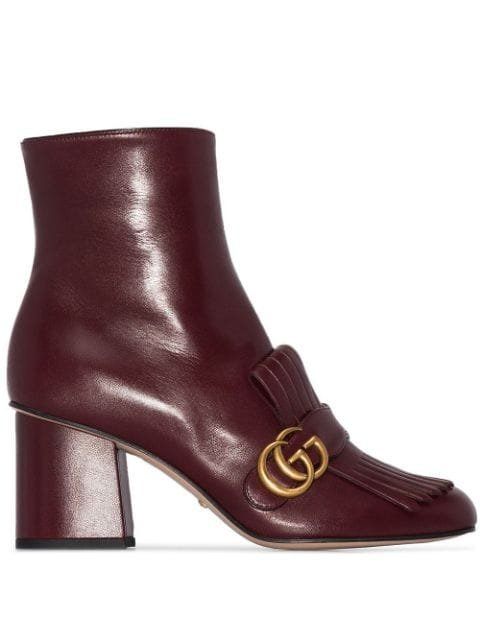 Gucci Marmont 75mm Fringed Ankle Boots - Farfetch