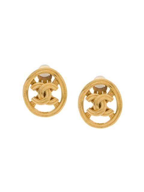 Chanel Pre-Owned Cut Out CC Earrings - Farfetch