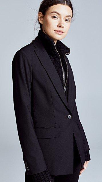 Long & Lean Jacket with Black Upstitch