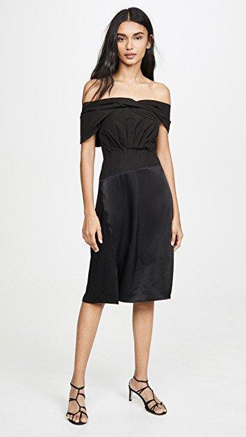 Side Shoulder Mini Dress