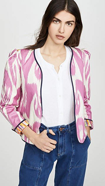 Sly Fox Silk Moiré Ikat Jacket