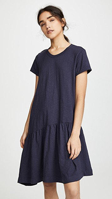 Slant Hem T Shirt Dress