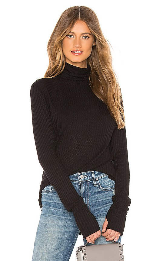 Thermal Raglan Turtleneck