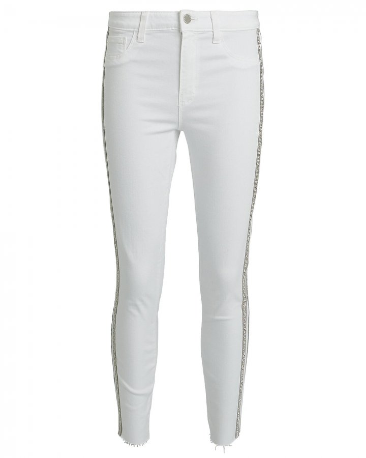 Margot Crystal Stripe Skinny Jeans