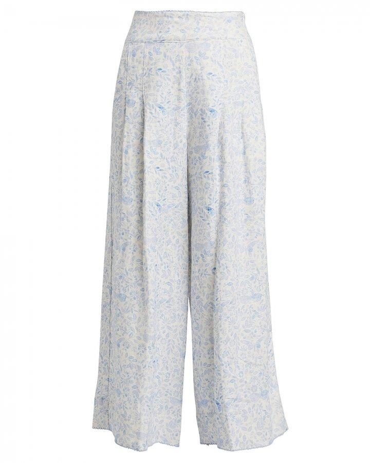 Vanilla Linen Wide Leg Pants