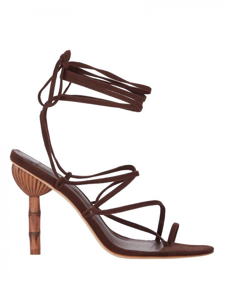 Adina Bamboo Heel Wrap Sandal