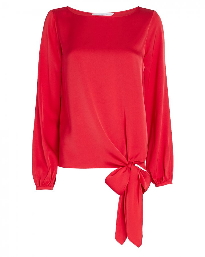 Kristy Knotted Silk Blouse