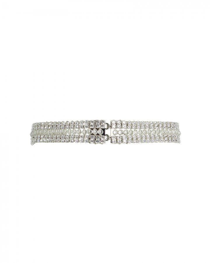 Crystal-Beaded Waist Belt