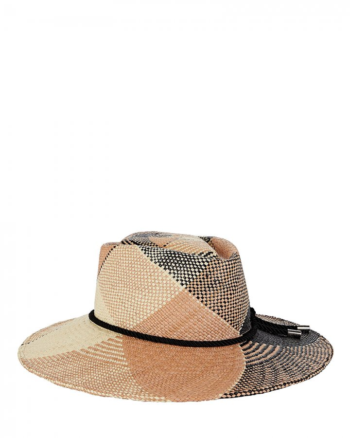 Hilma Plaid Straw Fedora