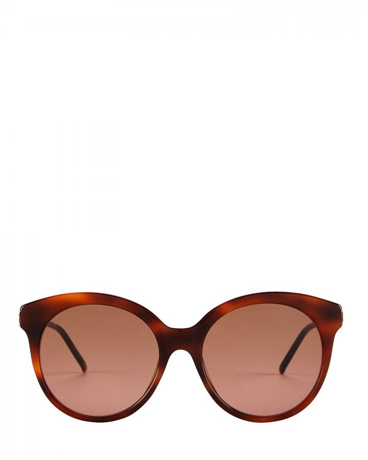 Vintage Havana Round Cat Eye Sunglasses