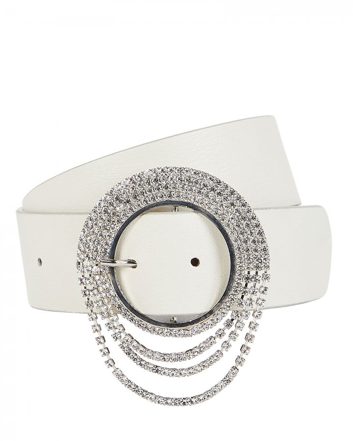 Lilia Clara Crystal Buckle Belt