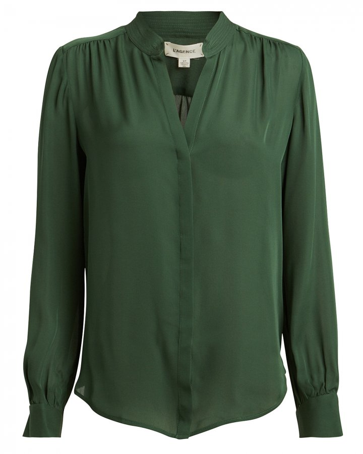 Bianca Silk Button Down Blouse