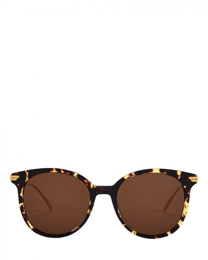 Spotted Havana Oversized Round Sunglasses