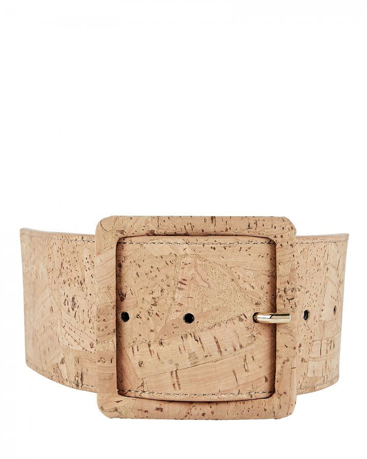Tinmarie Cork-Trimmed PVC Belt
