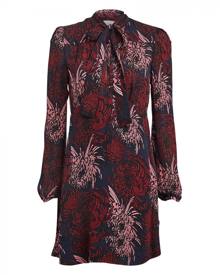 Emery Floral Silk Mini Dress