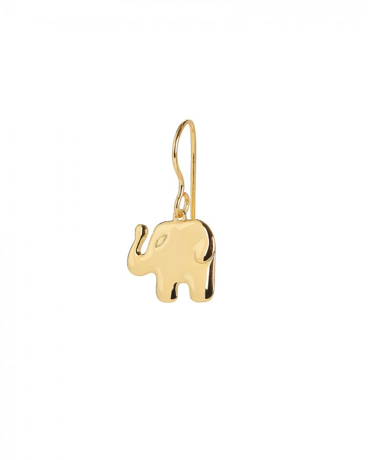 Actua Gold Elephant Earring
