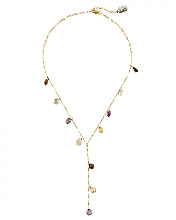 Gemstones Lariat Necklace