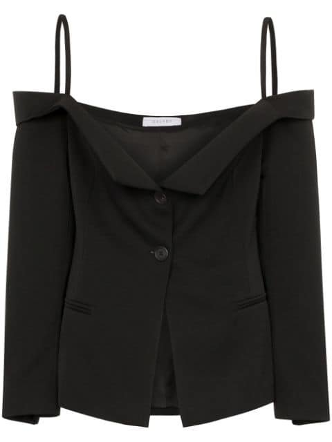 Delada off-the-shoulder Blazer Top - Farfetch