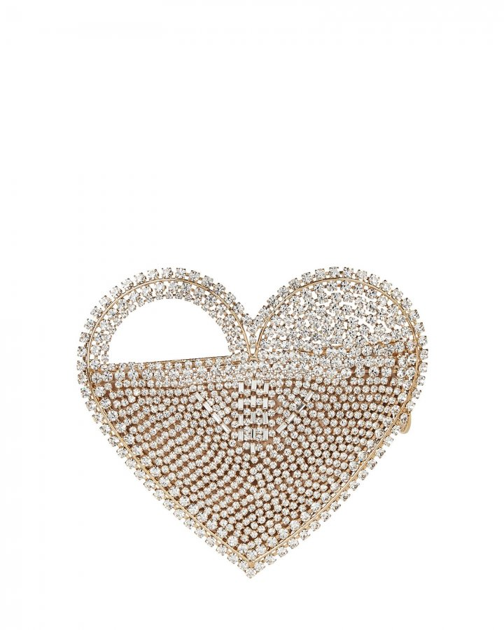 Regina Crystal Heart Clutch