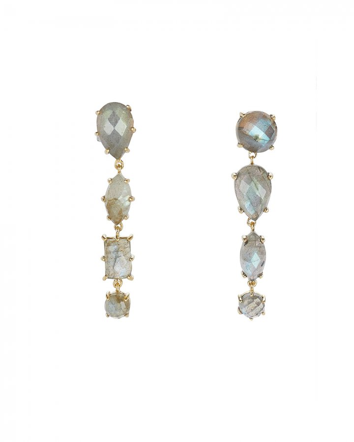 Mismatched Labradorite Drop Earrings