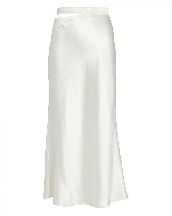 Livarno Satin Midi Skirt