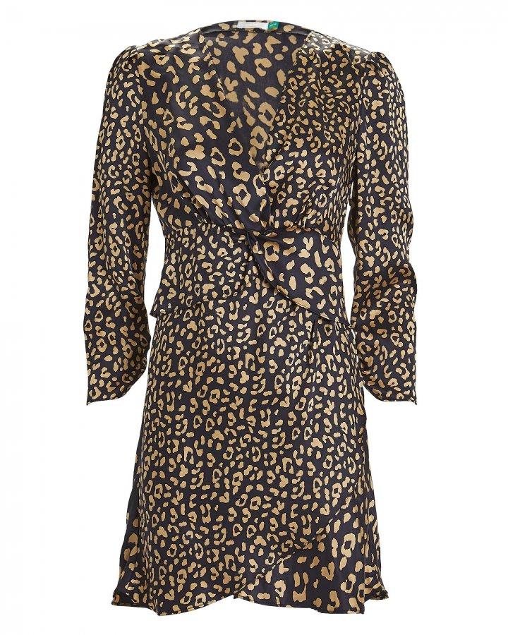 Lilly Leopard Silk Mini Dress