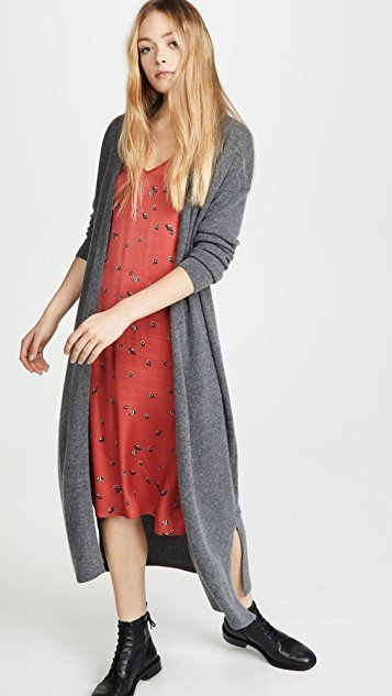 Long Cashmere Robe Cardigan