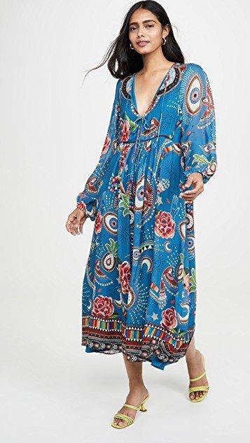 Mystic Blue Midi Dress