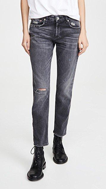 Dre Low-Rise Slim Boyfriend Jeans