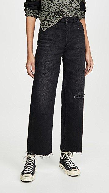 The Etta High Waisted Wide Leg Crop Jeans