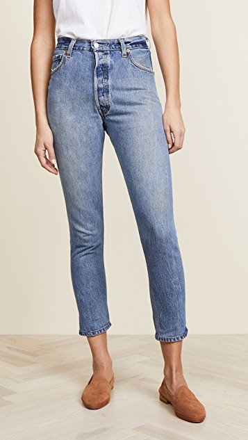 x Levi\'s High Rise Ankle Crop Jeans