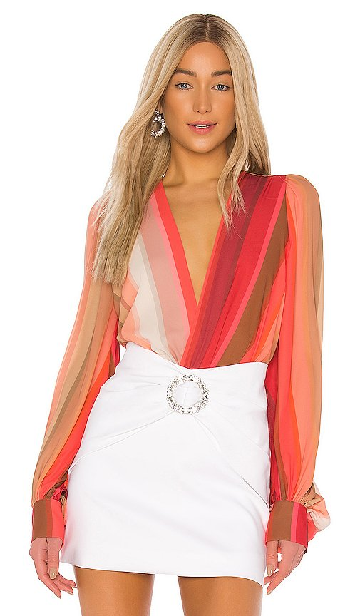 Tropical Chiffon Bodysuit