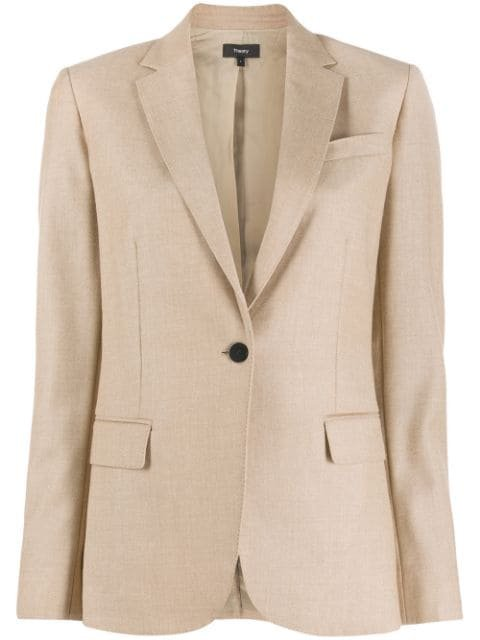 Theory Single Breasted Blazer - Farfetch