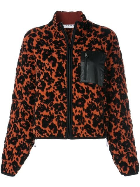 Proenza Schouler White Label PSWL Leopard Bubble Jacquard Cropped Bomber Jacket - Farfetch