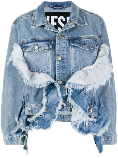 Diesel De-Abby Ruffled Denim Jacket - Farfetch