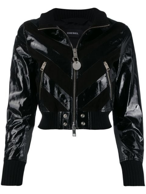 Diesel Leather Jacket - Farfetch